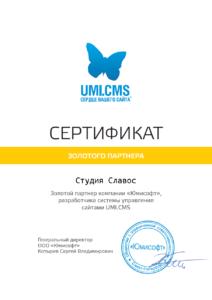 Сертификат Золотых партнеров 26.04.2016